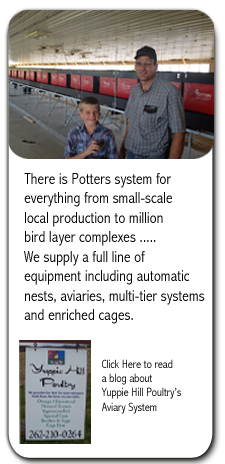 Potters supplies cage free equipment