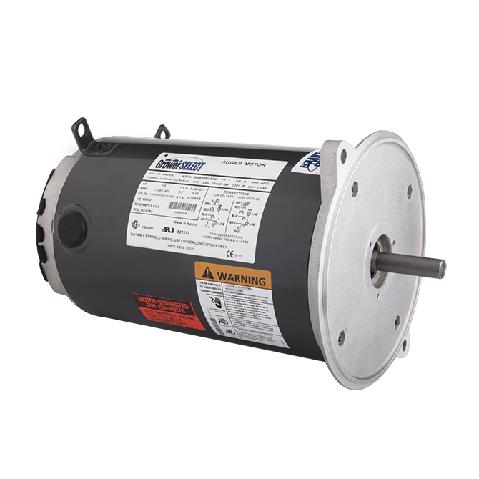 GrowerSELECT® auger drive unit motors are also available individually to serve as high-quality, affordable replacement motor options for poultry feed systems from GrowerSELECT and other manufacturers.