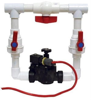 Picture of PVC Plumbing Solenoid Assembly w/ Bypass