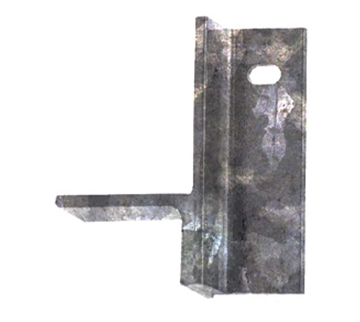 "Picture of 5 3/4"" left angle leg for floor frames-galv."