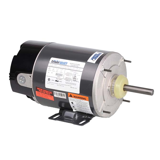 grower select 1 2 hp variable speed fan motor hog slat