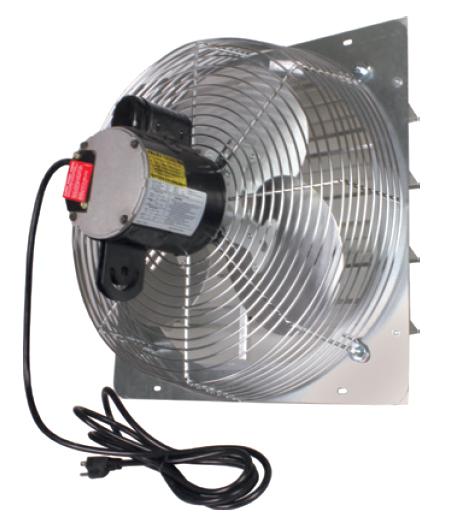 Shutter Exhaust Fan Pre-Wired | Hog Slat