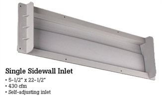 "Picture of Single Sidewall Inlet 5.5"" x 22.5"""