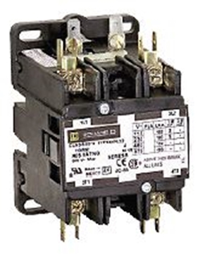 Picture of Contactor 2 Pole 40 Amp Coil Square D
