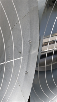 "Picture of Windstorm™ 54"" Galvanized Slant Wall Fan"