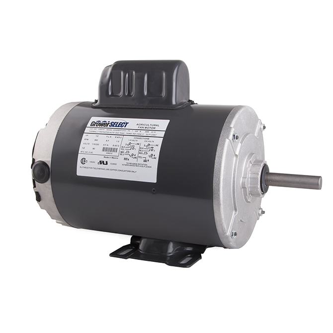 grower select 1 2 hp 850 rpm variable speed motor hog slat