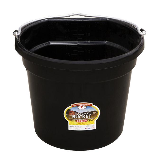 20 Qt Flat Back Duraflex Plastic Bucket Hog Slat
