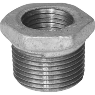 "Picture of 3/4"" x 3/8"" Reducing Bushing Galvanized"