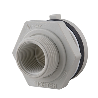 "Picture of 3/4"" FPT Bulkhead Fitting for 1-1/2"" Hole"