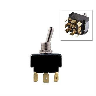 Picture of Toggle Switch TPDT 10 Amp 250V 3/4 HP