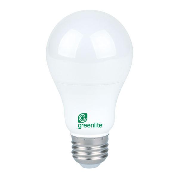 9w Led A19 Dimmable Greenlite Bulbs Hog Slat