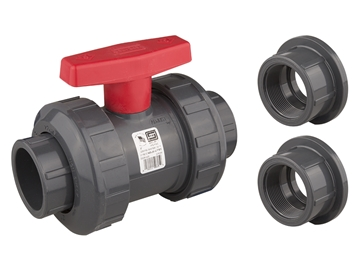 "Picture of 2"" True Union Ball Valve PVC"