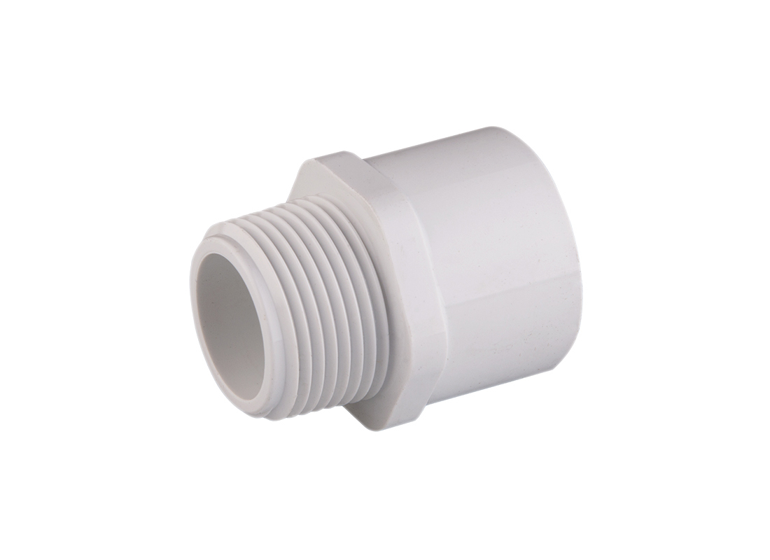 Quot pvc male adapter hog slat