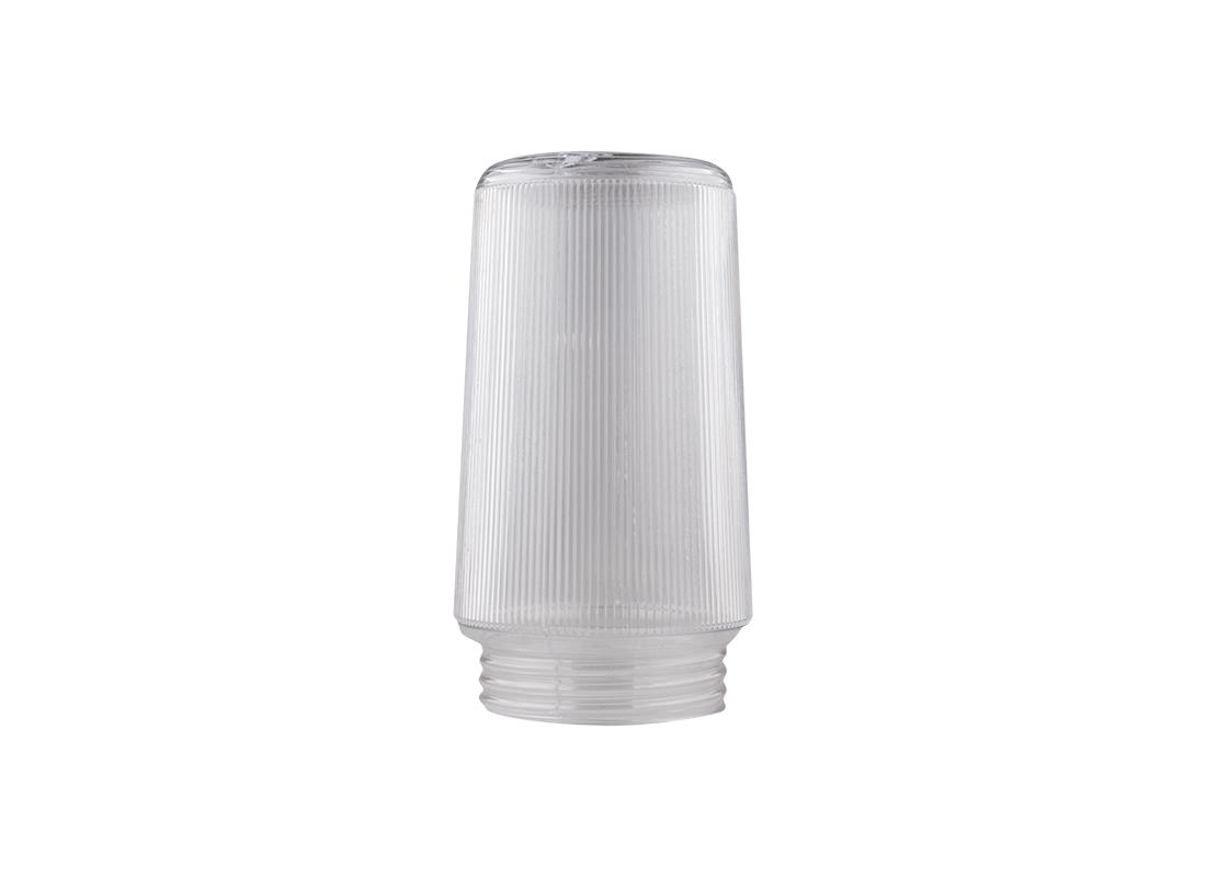 "Prismatic 7"" Clear Plastic Light Globe"