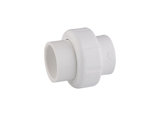 "Picture of 1"" PVC Union SCH 40"