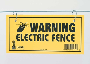 Picture of Warning Signs for Electric Fence - 3 pack