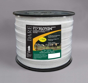 "Picture of DARE Polytape for Electric Fences 1-1/2"" Wide"