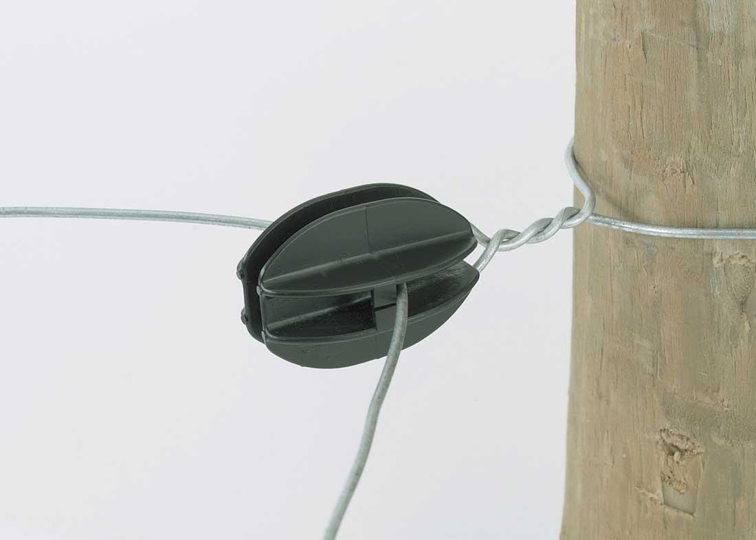 Black Corner Knob Wire Insulator 10 Pack Hog Slat