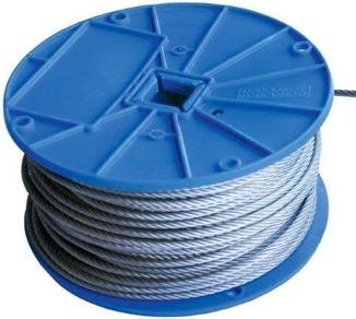 "Picture of 3/16"" Galvanized Cable Roll - 7 x 7"