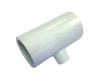 "Picture of 3/4"" x 1/8"" PVC Tee w/ Bushing"