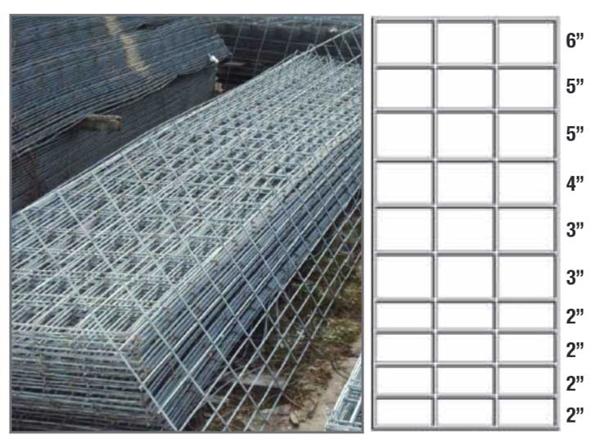 "Picture of Welded Hog Panel Galvanized Metal 34"" x 16'"