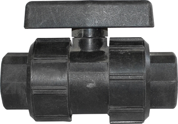 """Picture of Ball Valve Union Type Black 3/4"""""""
