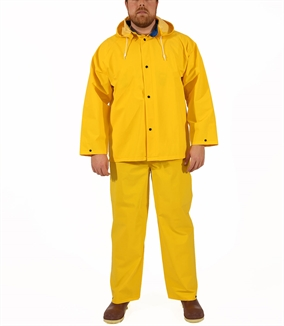 Picture of Tingley® Yellow 3 Piece Rain Suit, .35MM PVC/Polyester, 14Mil
