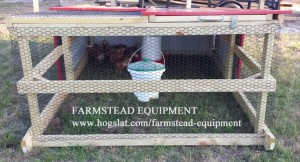 Chickens in Outdoor Tractor_Front