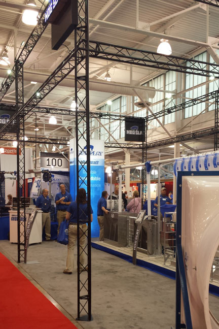 2015 World Pork Expo Hog Slat Display Booth