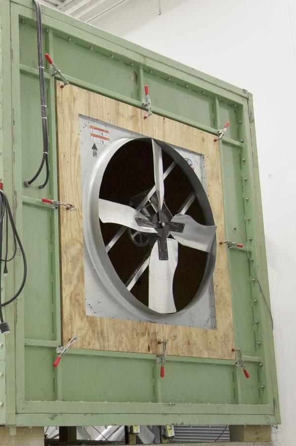 QC testing fan blades.