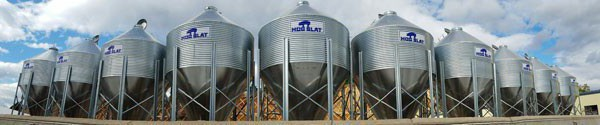 Hog Slat bins feature the industry's heaviest galvanized coating.