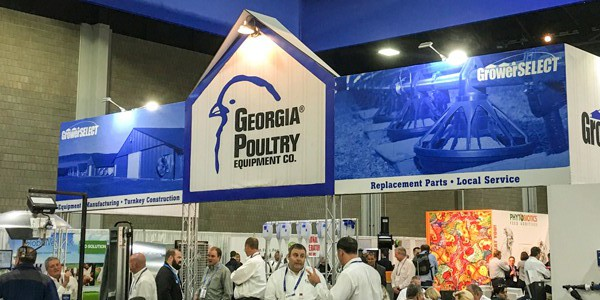 Georgia Poultry booth at 2017 IPPE show