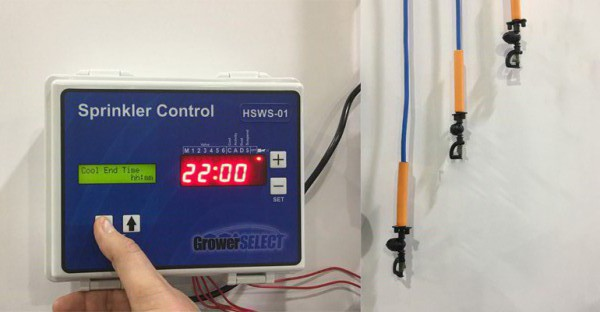 GrowerSELECT control with sprinkler head assemblies