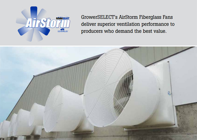 GrowerSELECT AirStorm Fan Brochure Image
