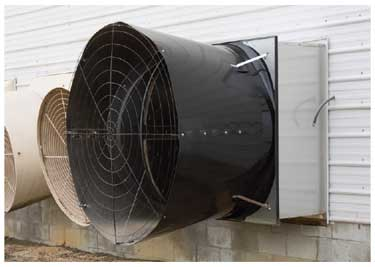 "AirStorm X-Brace 57"" Fan Optional Outside Through-Wall Mount"