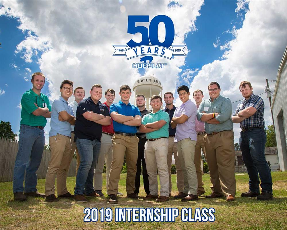 Our 2019 North Carolina Interns standing proudly outside of our Corporate Headquarters in Newton Grove, NC.