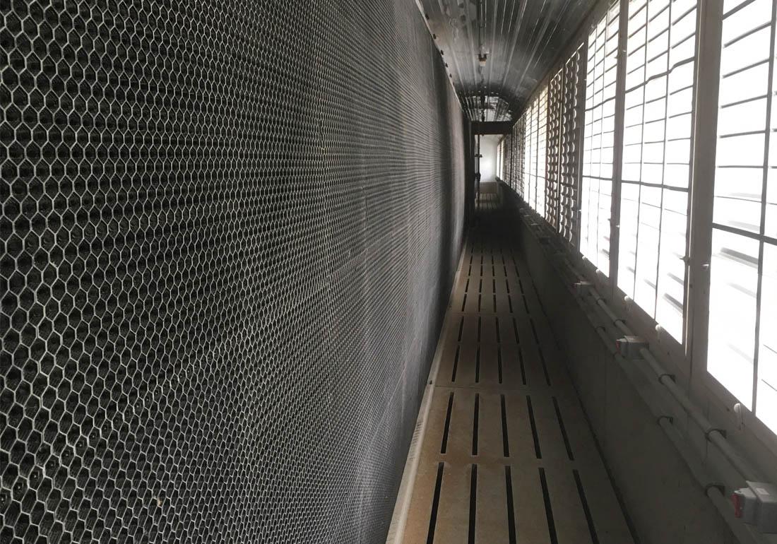 Sow farm plastic air scrubber wall