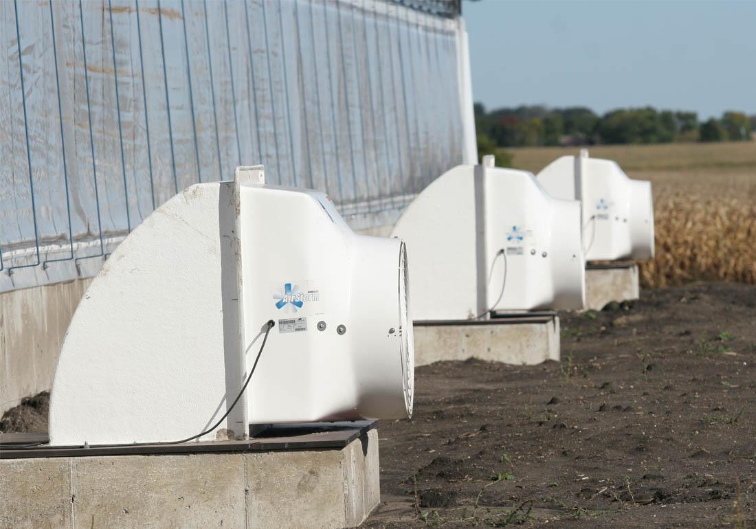 """AirStorm 24"""" fiberglass barn pit exhaust fans"""
