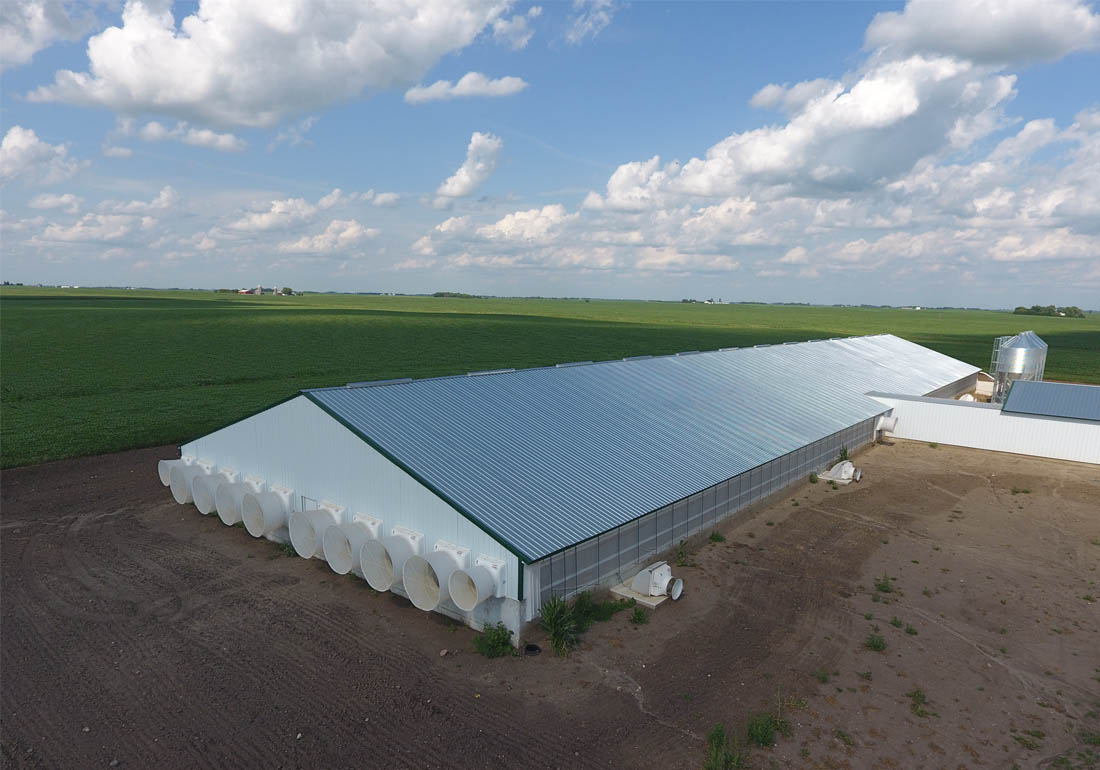 GrowerSELECT AirStorm fiberglass exhaust fans ventilate the barns and deep pits.