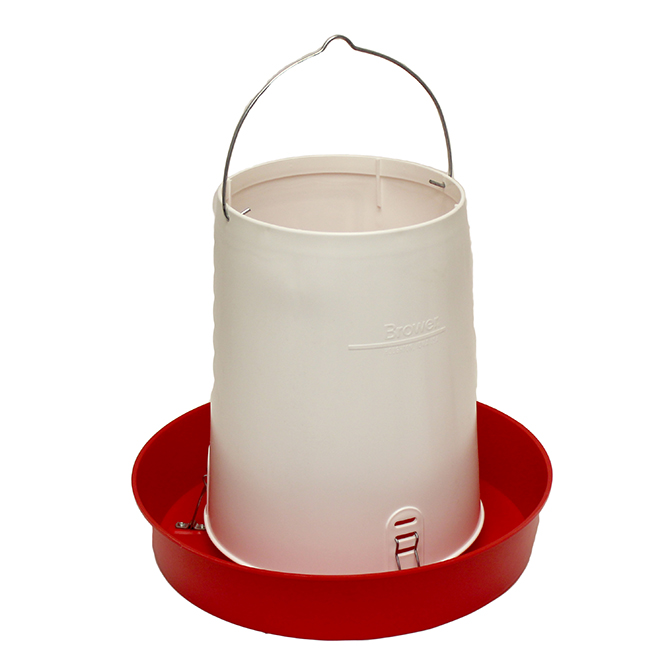 Brower 30 lb Poly Hanging Chicken Feeder