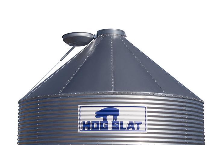 Hog Slat® Bulk Feed Bin Roof Features