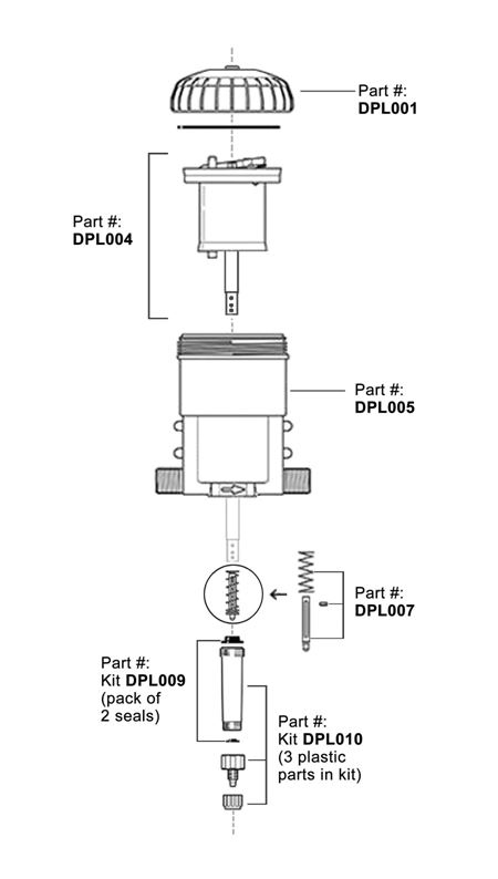 DPLH128 - Hog Slat Medicator Replacement Parts Diagram