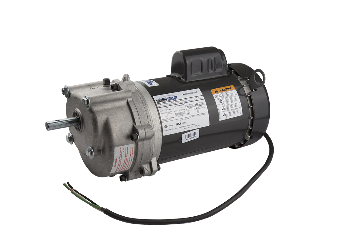 All GrowerSELECT products feature a two year warranty. 1/3 HP 352 RPM drive unit shown.