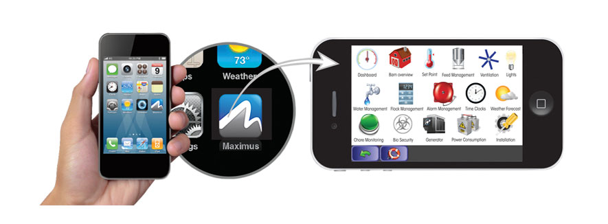 Maximus Systems Controller Smartphone Application