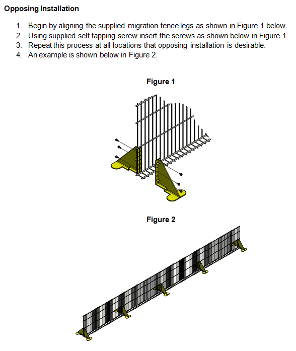Migration Fence Stand Kit Opposing Installation Instructions