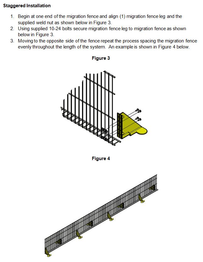 Migration Fence Stand Kit Staggered Installation Instructions