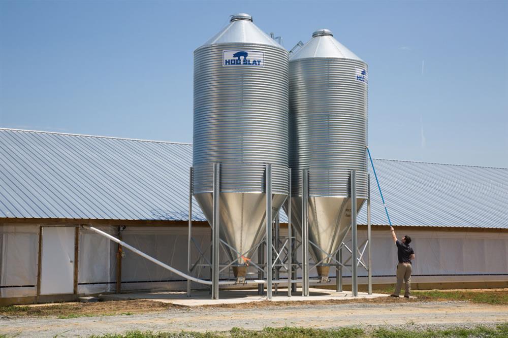 Hog Slat Offers Safe, Affordable Solution to Check Feed Bin Levels