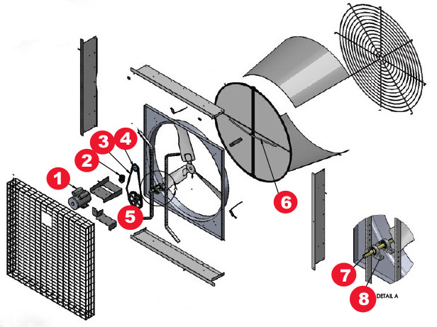 Windstorm Fan parts diagram