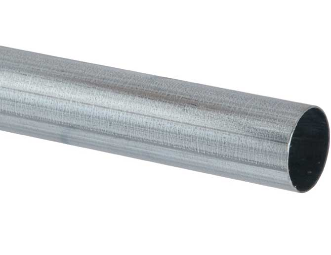 Grow-Disk galvanized 18 gauge metal feed pipe eliminates installation issues, sagging and pre-mature disk wear that can happen when using PVC chain disk pipe.
