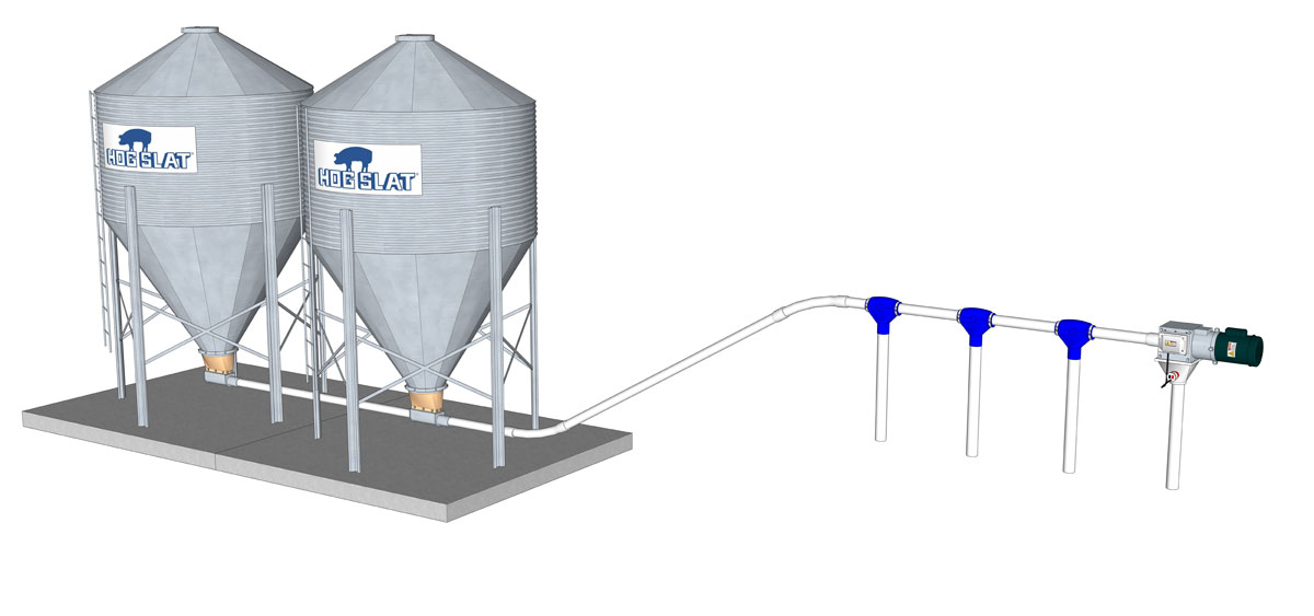 GrowerSELECT® Grow-Flex™ flexible auger systems are available in a variety of capacities and configurations to meet the feed delivery needs of any swine or poultry production operation.